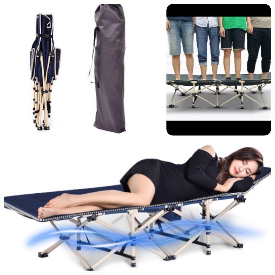 Takes 250kg Elderly Rest Bed /Portable Bed + Free Carrier