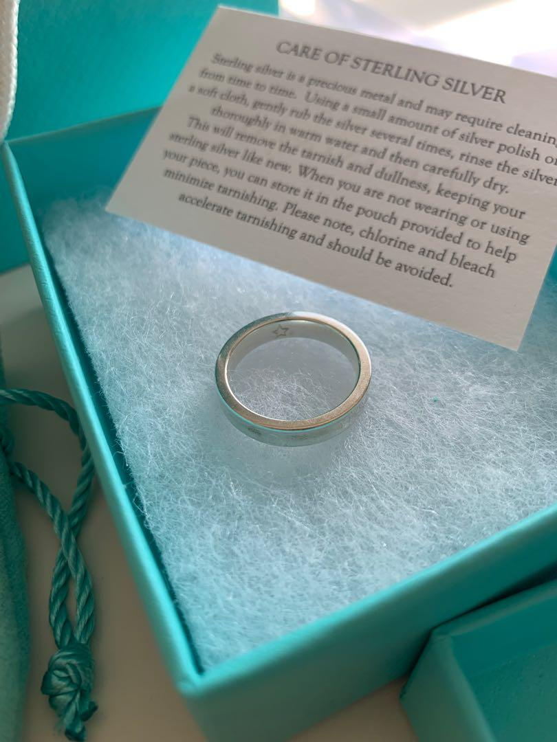 Tiffany and Co Ring Narrow Basic Ring Sterling Silver 1837