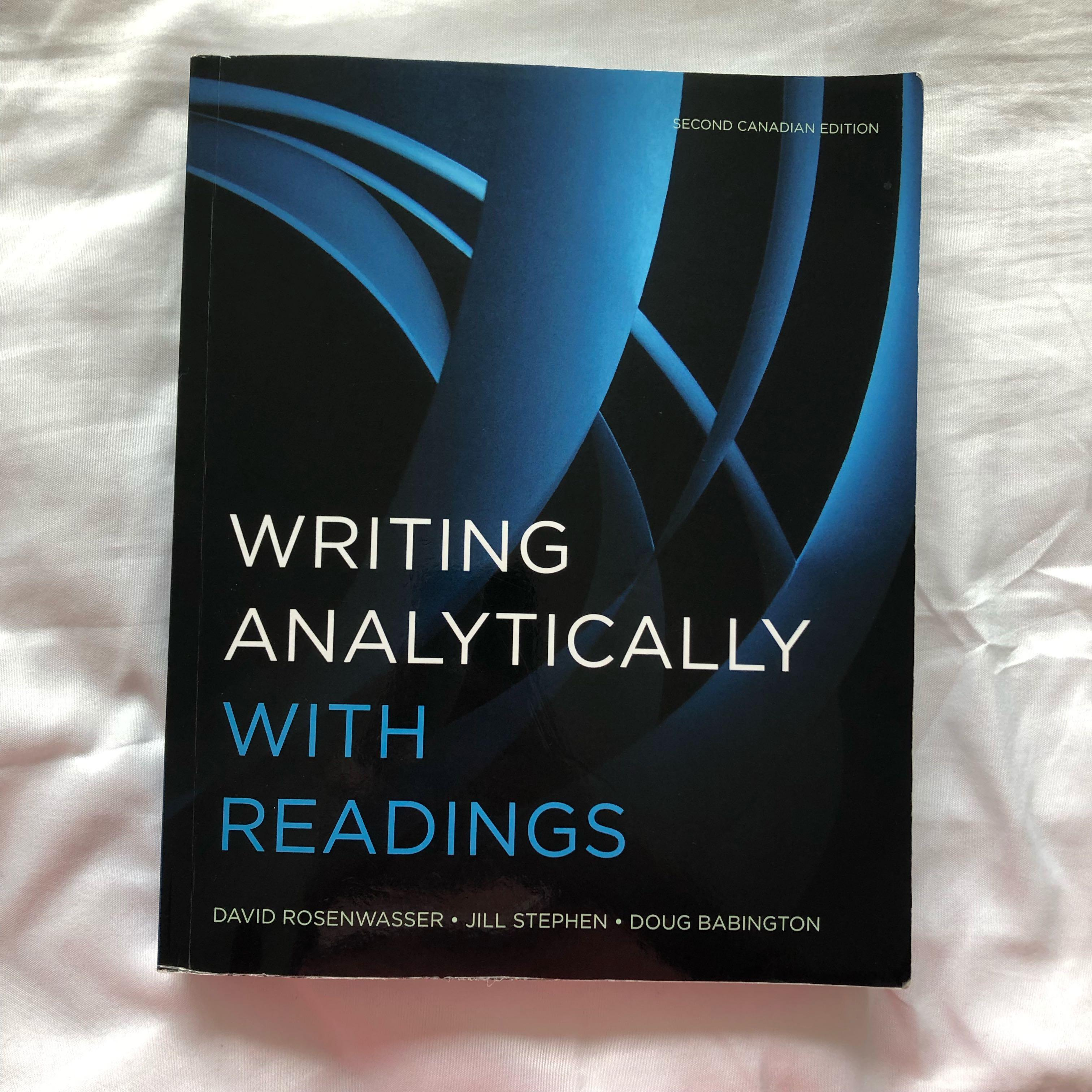 WRITING ANALYTICALLY WITH READINGS (2nd Ed.)