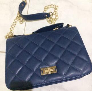 Navy Blue Chain Bag