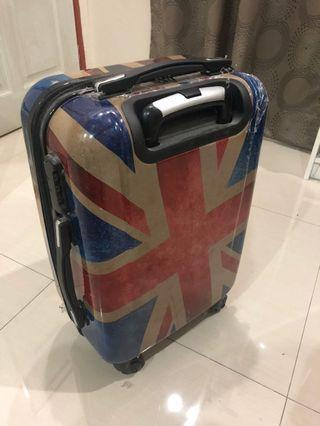 Unisex retro luggage England Flag