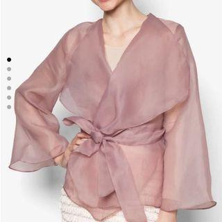 *Looking For* XS Lubna Organza Wrap Top