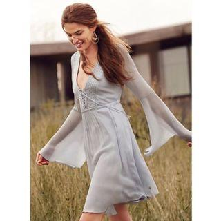 Anthropologie Belled Peasant Dress by Ghost, Size XS