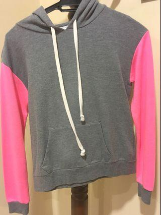 FOREVER 21 Sweater- PINK and GREY