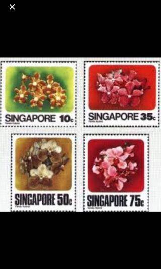 Singapore stamps 1979 orchids 4v MNH