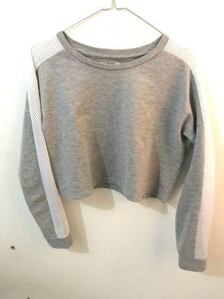 colorbox crop top grey