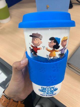 全新2015麥當勞史努比snoopy陶瓷咖啡杯