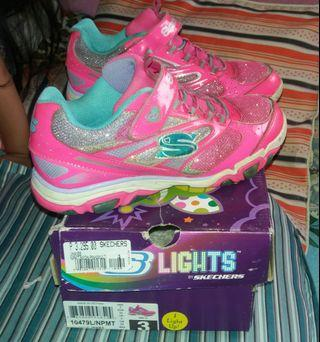 Original SKECHERS Girl shoes TIKIS RUPFFLE UPS size11 #04 on