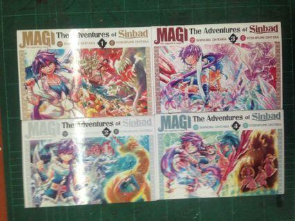 Magi The Adventures of Sinbad vol 1-4