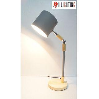 LSH Lighting Simple Classic Decorative Table Lamp 18823GY/1