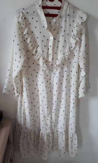 Dress white polkadot