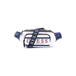 New GUESS ? GYM LOGO WAIST PACK bum fanny bag shoulder back body bag crossbody sling bag front pocket WHITE coach kaws