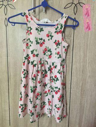 Dress strawberry H&M original