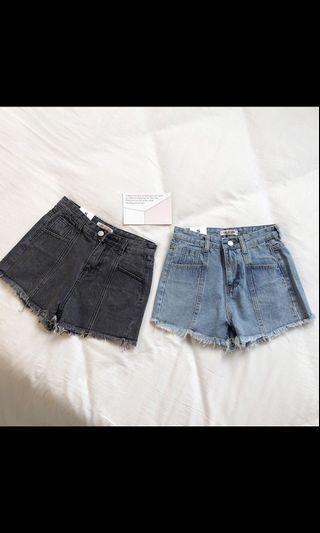 復古高腰顯瘦牛仔褲(藍)