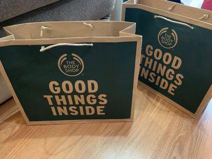 The Body Shop Gift Set Box Paper Bag Original