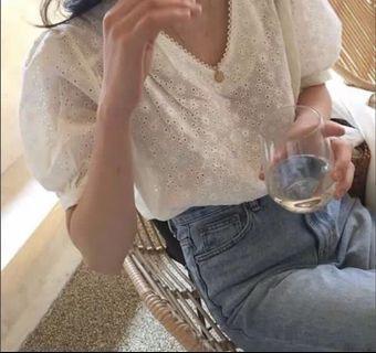 小公主短袖花紋上衣跟wuly同款
