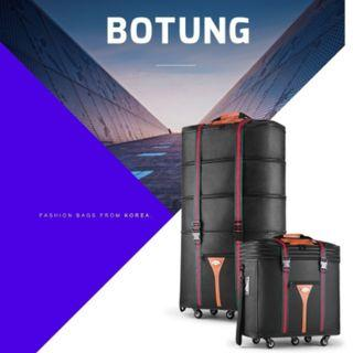 Botung 3-in-1 Expandable Travel Bag Cabin Size Luggage Korean Fold-able Check-In Trolley