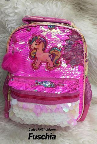 Tas sekolah anak Unicorn
