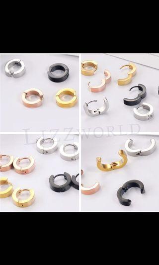韓版鈦鋼耳環🍀LIZZWORLD🍀 圈圈耳環