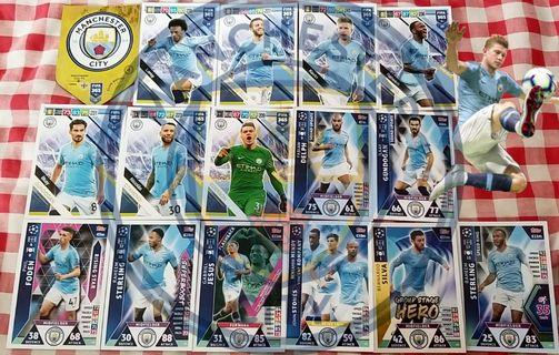 Match Attax Cards,  Panini Cards team set @2$