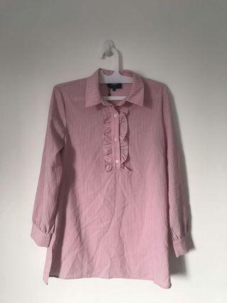 NEW Pomelo Pink Stripes shirt