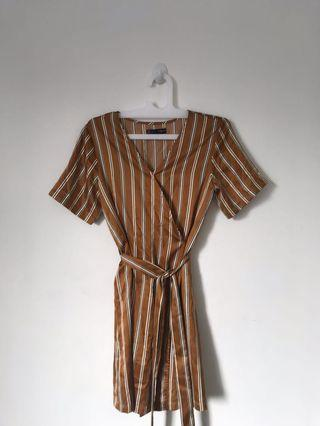 XSML Stripes kimono mini dress