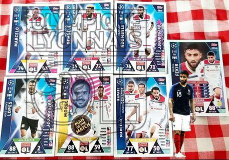Match Attax Cards team set @ 1.50$