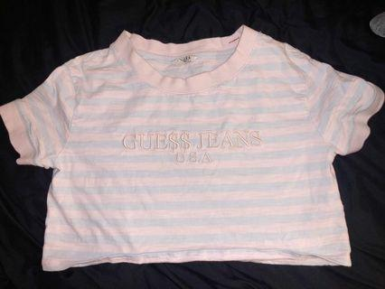 Guess x ASAP Rocky Collab Cropped Tee