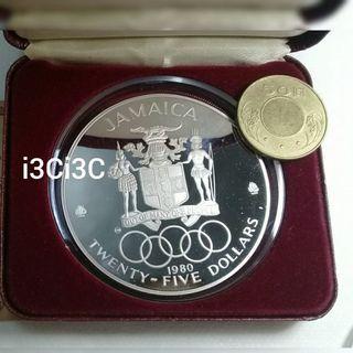 1980年牙買加奧運金牌得主紀念銀幣,限量銀幣,銀幣,收藏錢幣,錢幣,紀念幣,幣~1980年牙買加奧運金牌得主紀念銀幣(重約136公克,ebay售價新台幣8779元)