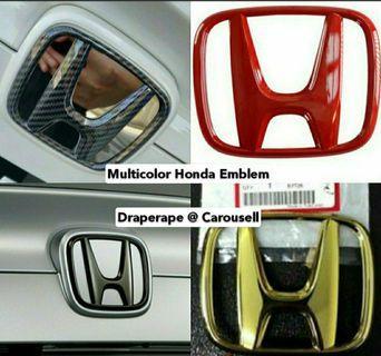 Multi- Color Honda Emblem for All Honda Car Models!