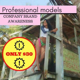 Professional female models for your company brand awareness!