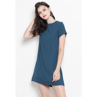 shopsassydream ssd nikita dress nikita lace-up shift dress in emerald teal