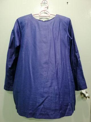 ICAHFA Baju kurung classic navy blue