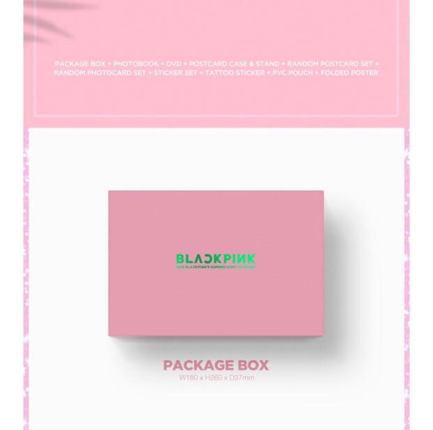 2019 BLACKPINK'S SUMMER DIARY [IN HAWAII] -FACTORY SEALED ORIGINALLY +STORE GIFT