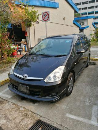 Toyota wish  for lease