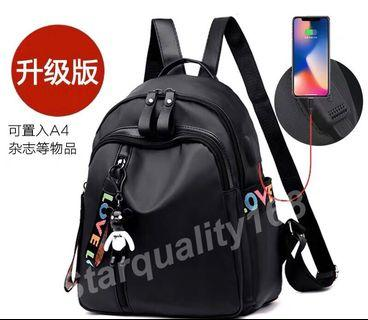 🌟INSTOCK 🌟 Oxford Cloth Backpack with USB port KS003