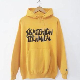 Champion Skatehigh Technical Yellow Hoodie