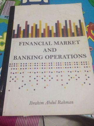 Financial market and banking operations
