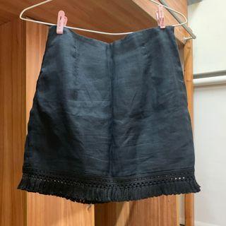 Pazzo 黑色流蘇短裙