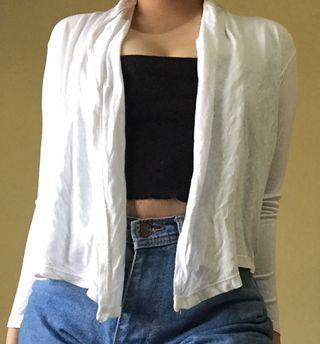 outer cardigan putih
