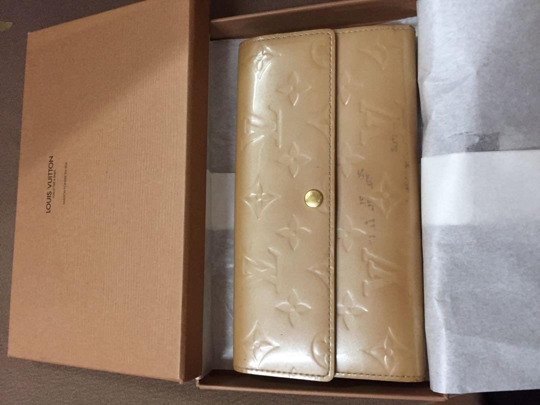 💯 authentic LV Sarah wallet