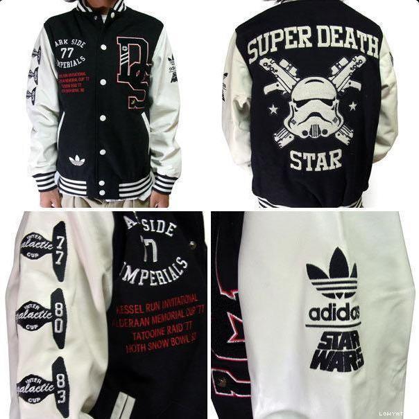 adidas star wars super death star varsity jacket