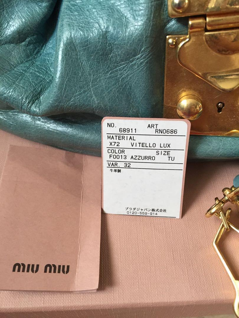 Authentic mini bow miu miu