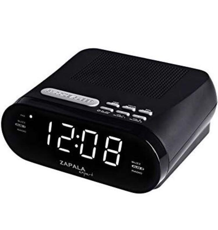 ZAPALA expert Wake-Up Projection Alarm Clock with Radio for Bedside or Kitchen FM Radio with 10 Preset Station Sleep /& Snooze Function Dual Alarm USB Port for Smart Phones and Tablets Charging