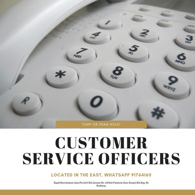 Customer Service (Call Centre) @ East (Temp or Perm!)