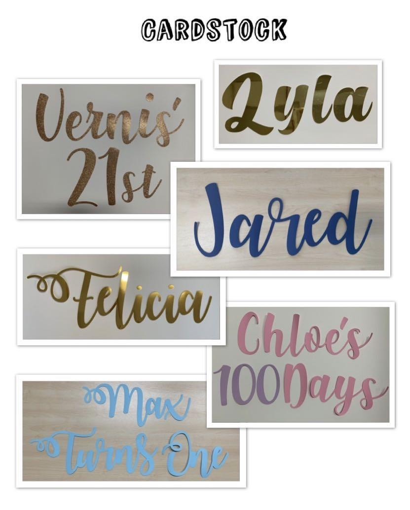 Customised Calligraphy Name Cutout
