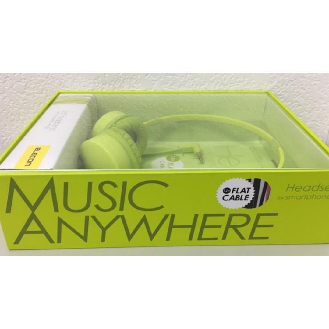ELECOM EHP-OH200水果硬糖馬卡龍可通話耳機/耳罩式耳機/雙耳耳機