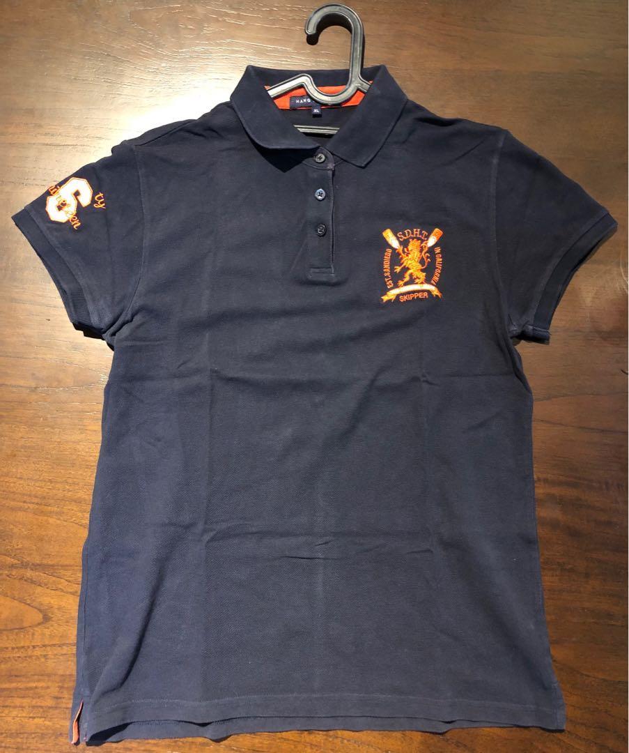 Hang Ten, navy blue polo shirt.