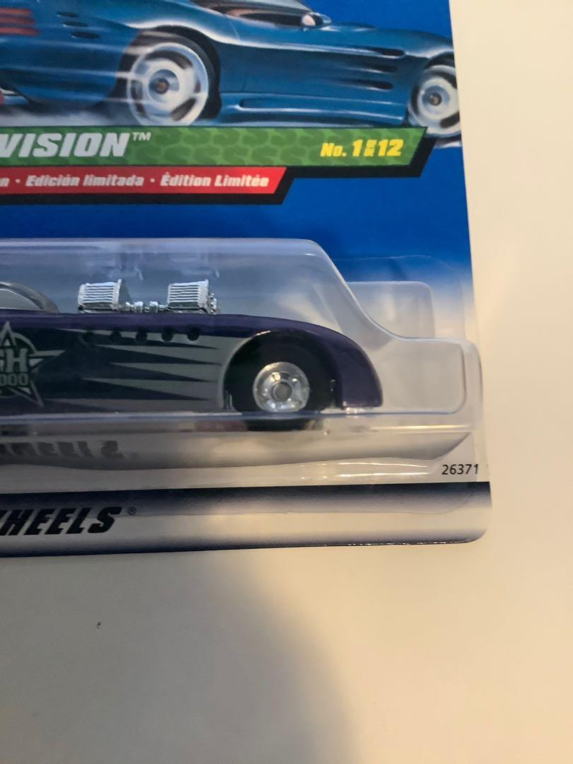 Hot wheels 1998 SUPER TREASURE HUNT Double vision rare limited edition diecast car with real riders