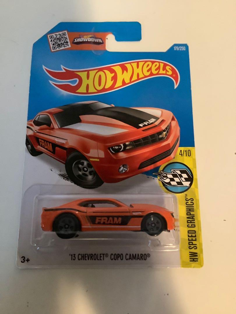 Hot wheels 2013 Chevrolet Chevy copo camaro collectible diecast muscle car